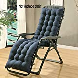 Auflage für Sonnenliege, Liegestuhl Stuhlkissen, dicker Bezug für den Außengebrauch(Nicht enthalten Stühle), blau, 160*48*8CM