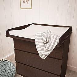 Polini Kids cambiador ufsatz cambiador accesorio para cómoda Malm IKEA de madera en diferentes colores (wengué)