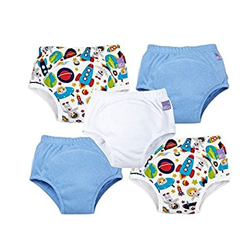 Bambino Mio 5-Piece Miosoft Reusable Pull-Up Style Potty Training Pants for Boys, Aged 2 to 3 Years