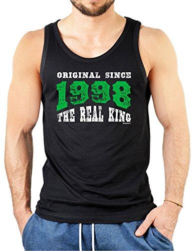 Volljährigkeit T-Shirt zum Geburtstag - Geschenk zum 18. Geburtstag Geburtstagsgeschenk Geburtstagsshirt 18 Jahre Farbe: schwarz Schwarz