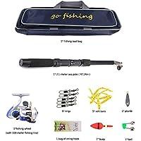 Super pesca de lujo accesorios de pesca de mar accesorios completos bolsa de regalo de lujo conjunto de pesca de mar