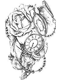 ROSEN TATTOO TATTOO TATTOO TATTOO FAKE TATTOO TH487 - Reloj de bolsillo, diseño de rosas