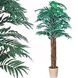 Maxstore PLANTASIA® Areca-Palme, Echtholzstamm, Kunstbaum, Kunstpflanze, Kunstpalme - 160 cm, Schadstoffgeprüft