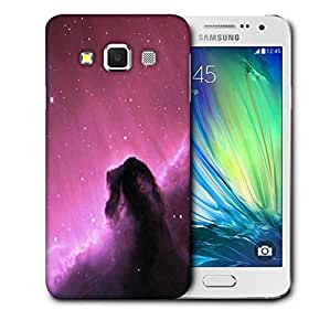 Snoogg Purple Galaxy Sky Printed Protective Phone Back Case Cover For Samsung Galaxy A3