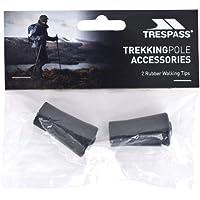 Trespass Spoke, Black, 2x RubberWalking Pole Tips, Black