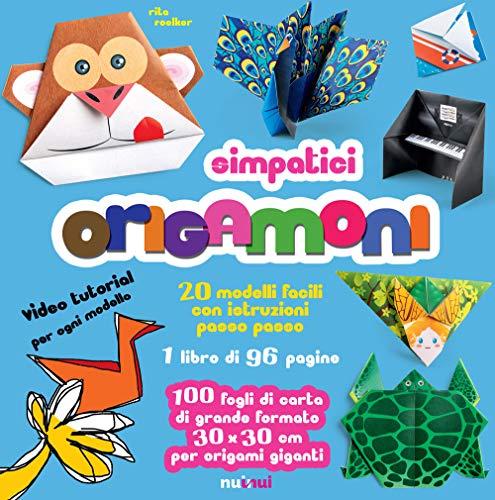 Simpatici origamoni. 20 modelli facili con istruzioni passo passo. Ediz. a colori. Con carte per origami staccabili integrate al libro
