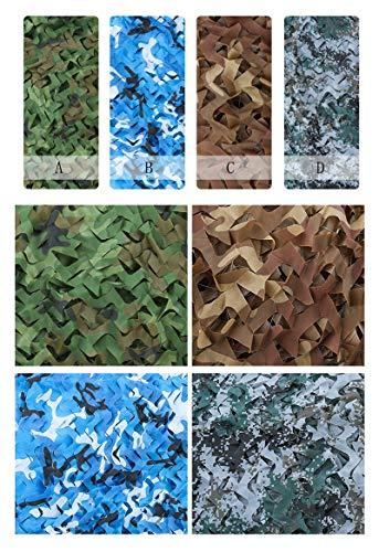 Camouflage Net Camo Netting Oxford Stoffjagd Schießen Camping, Sonnencreme Net Field Field Dekoration Schatten Netting (Color : B, Size : 6 * 10m) ()