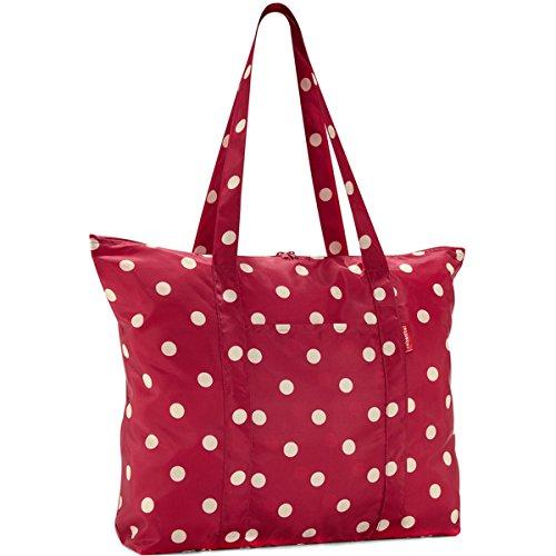 Reisenthel mini maxi travelshopper ruby dots Einkaufstasche faltbarer Reise Shopper Einkaufsbeutel rot punkte - AE3014