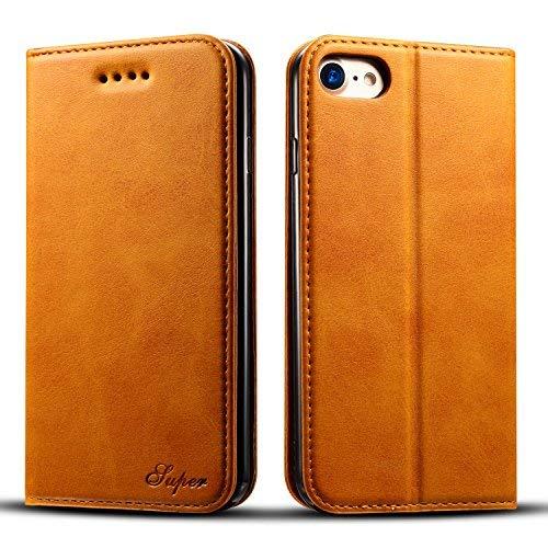 Flyeri Schutzhülle für iPhone 7 & 8, Leder, Flip Case, 1, 3