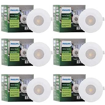 Philips Astra Spot 2-Watt LED COB Lights (Warm White, Pack of 6)