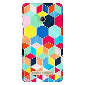 Jugaaduu Multicolour Hexagon Pattern Back Cover Case For Asus Zenfone 5