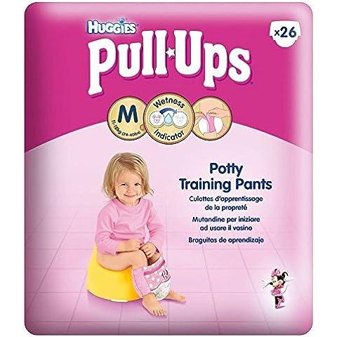 Huggies Pull-Up Dei Pantaloni Di Formazione Vasino Per Le Ragazze Formato 5 Di Media 11-18Kg (26) (Confezione da