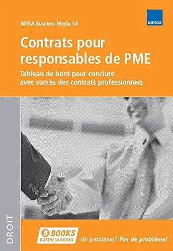 Contrats pour responsables de PME (Vertragscockpit für KMU) par WEKA Business Media SA