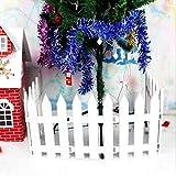 Ieve 4 pz bianco Fence albero di Natale festa di nozze decorazione casa giardino in miniatura - bordi per aiuole flessibile,bordura per giardino plastica(One Pack è di 100 cm in totale)