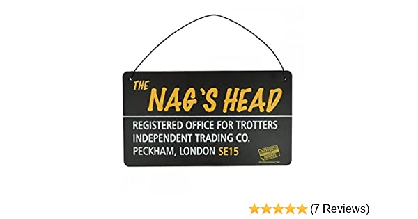 02b83bd37 Only Fools and Horses Tin Plaque 'The Nags Head': Amazon.co.uk: Kitchen &  Home