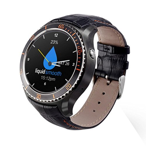 Zolimx I2 3G Smart Watch Wifi Android 5.1 Quad Core 512MB + 4G Fitness Tracker (Schwarz)