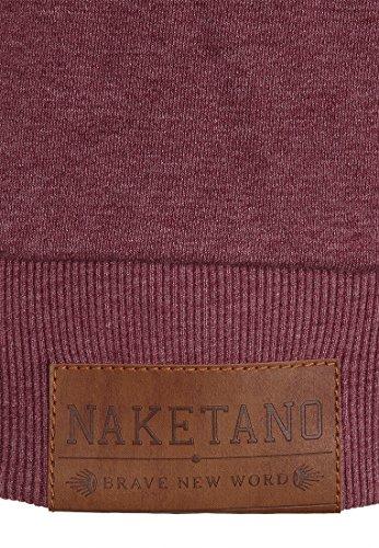 Naketano Brazzo IX W sweat zippé à capuche Bordeaux Melange