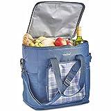 VonShef 30L Kühltasche/Große Picknick-Tasche mit Isolierung - Blaue