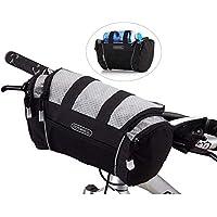 5L para bicicleta bolsa de manillar bicicleta tubo frontal bolsillo hombro unidades equitación ciclismo suministros, gris