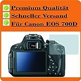 2x Displayschutzfolie Bildschirmschutzfolie KRISTALLKLAR von 4ProTec für Canon EOS 700D