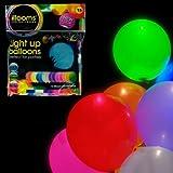 Leuchtende Led Luftballons Set mit 15 Stück Hochzeit Gebutstag bunte Mischung mit Led