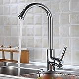 Auralum® Chrom Wasserhahn Waschtischarmatur Einhand Einhebelmischer Waschbecken Armatur Küche