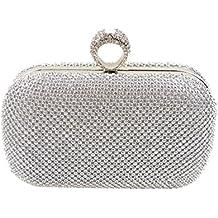 Yingzu delle signore pochette borsa anello frizione completo cristallo matrimonio partito borsa strass sera pochette da sera