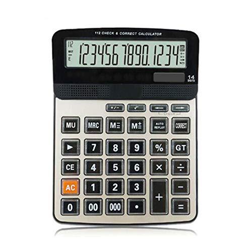 YANKAN Rechner GroßEr Knopf 14 GroßEr Bildschirm Finanziell GroßEs BüRo Liefert SchreibtischgeschäFtsarithmetik Calculato