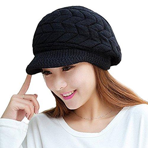 VICWARM Winter Wolle Beanie Hüte Kappen mit Visier und Strickmützen für (Hut Wolle)