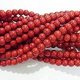 thetastejewelry 6mm redondo rojo magnesita perlas 15pulgadas 38cm joyas haciendo collar curación–4478