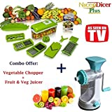 Fruit & Vegetable Juicer + Chopper Cutter Slicer Dicer Kitchen Tools Combo Offer