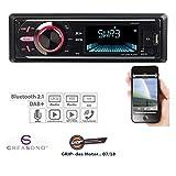 Creasono Autoradio 1 DIN: MP3-Autoradio mit DAB+, Bluetooth, Freisprecher, USB & SD, 4X 50 Watt (Autoradio Digital)