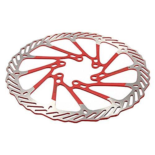 Inovey disco freno di 160mm bicicletta mtb in acciaio inox per avid g3-rosso