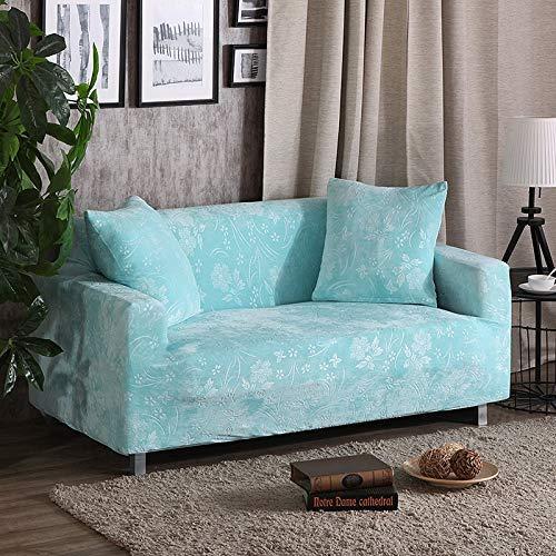 BAIF Dicker Sofabezug Stretch-Sitzbezüge Schonbezug Loveseat-Sofa Funiture Warp-Schonbezüge, die das Handtuch umwickeln (90-300 cm), Tiffany, 1-Sitzer 90-140 cm