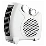 #5: Gizmozeus F1008H 2000W Upright / Flatbed Fan Heater (BEAB) with Two Heat Settings and Cool Blow, White