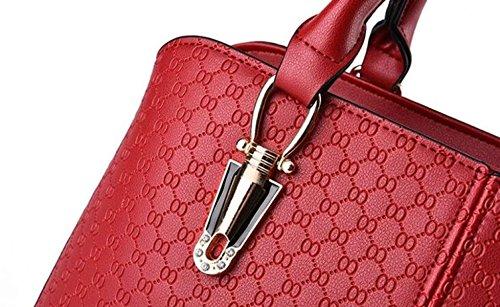 Frauen Handtaschen PU-Leder Umhängetasche Messenger Bag Handtaschen Elegante Einfache Mode Handtasche Schultertasche Damen Handtaschen Rose