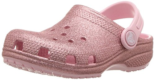 Crocs Crocband Mädchen (crocs Unisex-Kinder Classic Glitter K Clogs, Pink (Blossom 682), 33/34 EU)