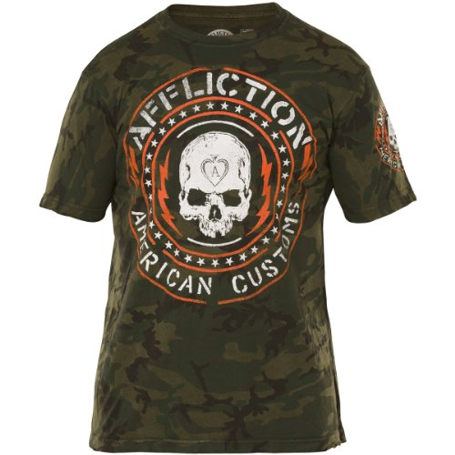 Affliction T-Shirt Major Rager Grün