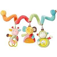 Fehn Activity-Spirale/Stoff-Spirale zum Greifen und Fühlen für Bett, Kinderwagen, Laufgitter anpassbar/Für Babys und Kleinkindern ab 0+ Monaten