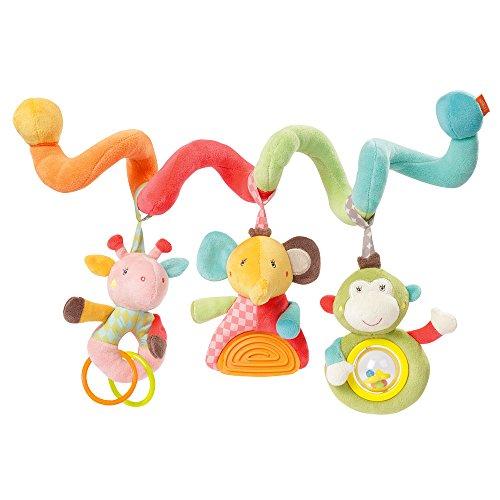 Fehn 074451 Activity-Spirale Safari - Stoff-Spirale zum Greifen und Fühlen für Bett, Kinderwagen, Laufgitter anpassbar - Für Babys und Kleinkindern ab 0+ Monaten - Maße: 30cm lang