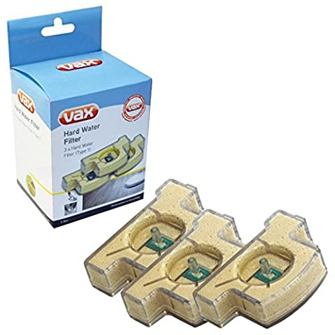 Genuine Vax S7 Steam Cleaner Mop Type 1 Hard Water Filter Cartridge (Pack of 3)