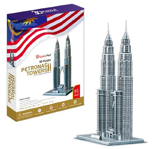 3D three-dimensional puzzle Petronas Twin Tower Building (japan import) -