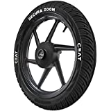 Ceat Secura Zoom 80/100-18 47P Tubeless Bike Tyre, Front (Home Delivery)