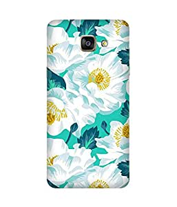 White with Blue Samsung Galaxy A5 2016 Edition Case