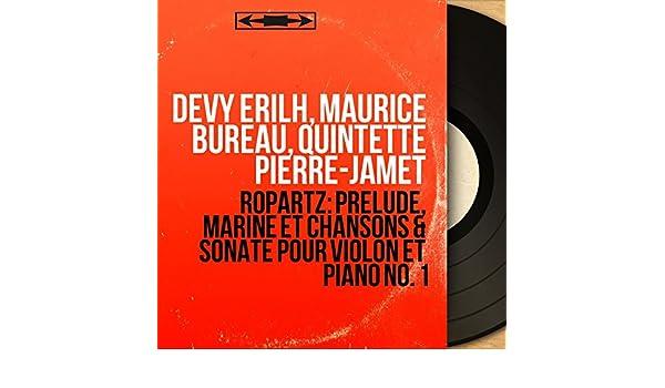 Bureau Pour Piano : Ropartz prélude marine et chansons sonate pour violon et piano