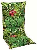 Sesselauflage Sitzpolster Gartenstuhlauflage für Hochlehner BENIGNUS 1 | B 50 cm x L 120 cm | Mehrfarbig | Baumwolle | Polyester