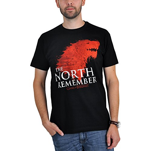 Game of Thrones The North Remembers T-Shirt zur HBO Serie schwarz - M