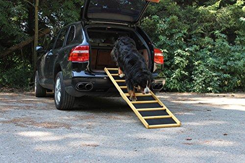 Artikelbild: Hunderampe Extra Breit Komfort klappbar 90x50 / 180x50 cm Tragkraft 85 kg