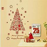 Jkxiansheng 57X67 Cm Joyeux Noël Éléments Décoratifs'Arbre' Sticker Mural Pour Boutique Bureau Maison Décoration Fenêtre Stickers Festival De Noël Vinyle Art