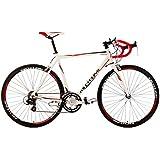 """Road Racing Bike 28"""" Euphoria 58cm 14 Gear White KS Cycling"""
